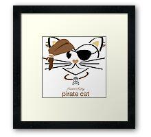 HeartKitty Pirate Cat Framed Print