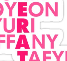 Simple GIRLS' GENERATION Typography Sticker