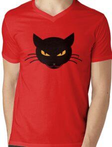 Evil Kitty Mens V-Neck T-Shirt