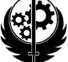 Brotherhood Of Steel Logo Black by MrNukaCola