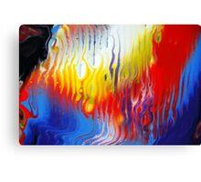 Acrylic Fluid Colour Trails Canvas Print