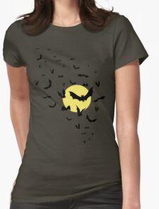 Bat Swarm Womens Fitted T-Shirt