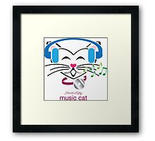 HeartKitty Music Cat Framed Print