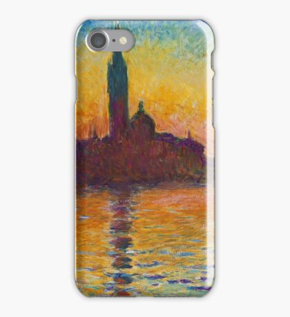 Claude Monet - Dusk in Venice iPhone Case/Skin