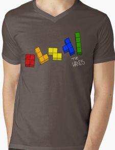 Tetris White Mens V-Neck T-Shirt