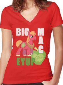 bic macintosh Women's Fitted V-Neck T-Shirt