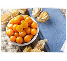 Physalis Fruit in Bowl Poster