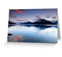 Lake Wakatipu Sunset Greeting Card