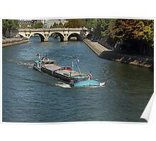 Loaded to the gunnels on the Seine Paris Poster