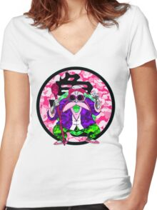 Yung Roshi III Women's Fitted V-Neck T-Shirt
