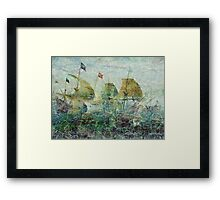 Under Full Sail II Framed Print