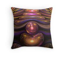 Spherical Gems Throw Pillow