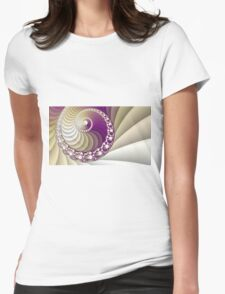 Abstract spiral fractal art Womens Fitted T-Shirt