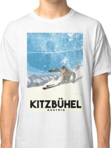 Ski Kitzbühel Austria (eroded) Classic T-Shirt