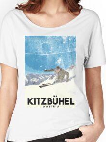 Ski Kitzbühel Austria (eroded) Women's Relaxed Fit T-Shirt