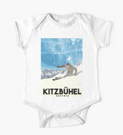 Ski Kitzbühel Austria (eroded) One Piece - Short Sleeve