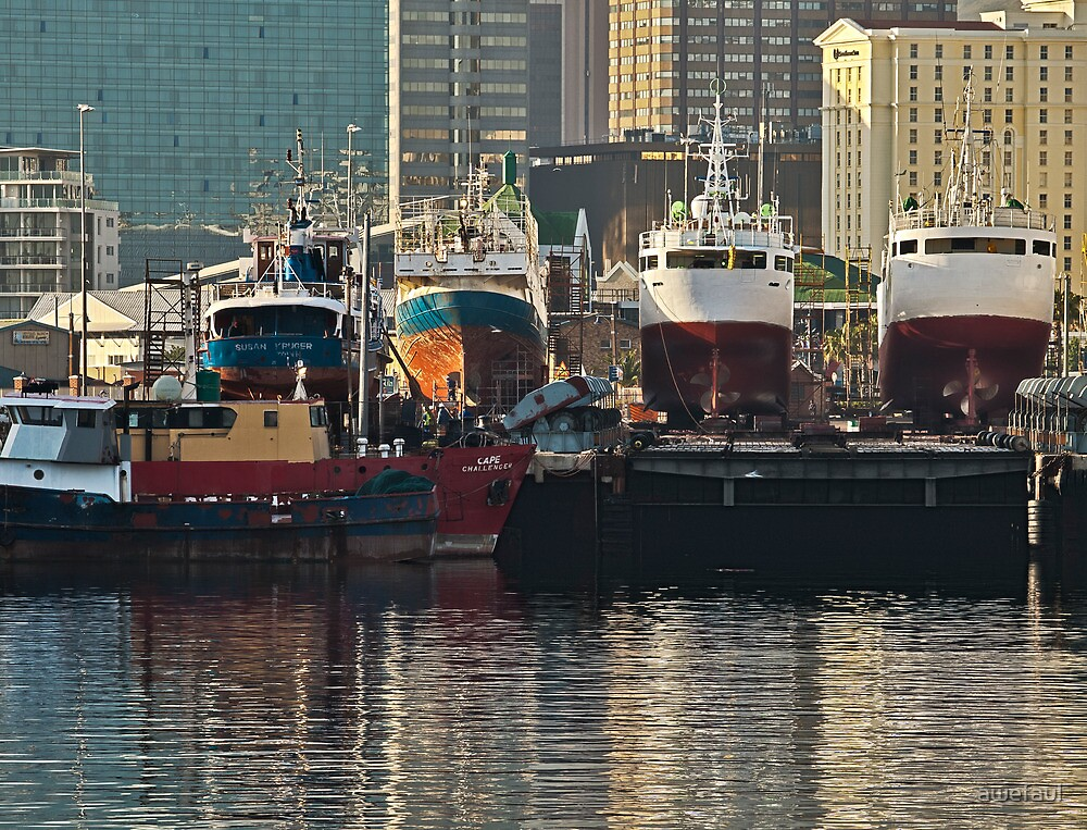 Ships in the city by awefaul