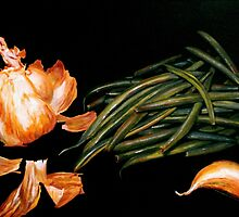 Garlic and Green Beans... by ©Janis Zroback