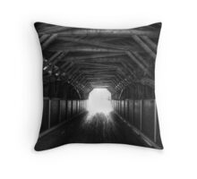 Light at the end of the tunnel Throw Pillow