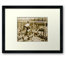 pump station Framed Print