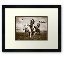 on the plains Framed Print