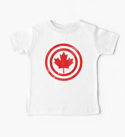 Captain Canada (Distressed) Baby Tee