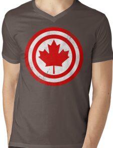 Captain Canada (Distressed) Mens V-Neck T-Shirt