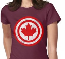 Captain Canada (Distressed) Womens Fitted T-Shirt