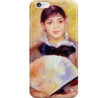 Pierre-Auguste Renoir - Girl with a Fan iPhone Case/Skin