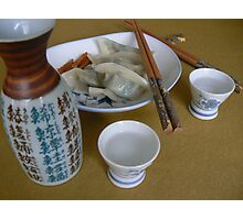 君..&my chinese food:))& sake! Photographic Print