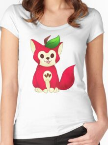 Fruit Cats: Apple Cat Women's Fitted Scoop T-Shirt