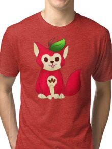 Fruit Cats: Apple Cat Tri-blend T-Shirt