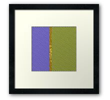Blue and Yellow Scales Framed Print