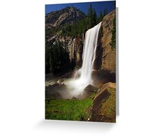 Vernal Fall from Mist Trail Greeting Card