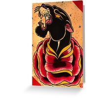 Panther Painting Greeting Card