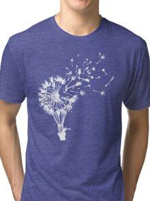 Last Man On Earth Dandelion Hot Air Balloon Tandelion Tri-blend T-Shirt