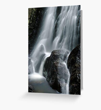 Beaver Meadow Brook Falls - Detail Greeting Card
