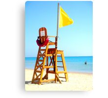Lifeguard tower in Egypt Canvas Print