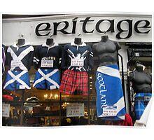 Trading Torsos! Royal Mile, Edinburgh, Scotland Poster