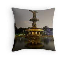 Bethesda Fountain, Central Park Throw Pillow