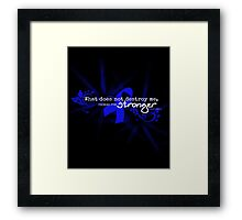 Color Cancer Awareness Ribbon Neiztche quote Framed Print