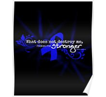 Color Cancer Awareness Ribbon Neiztche quote Poster