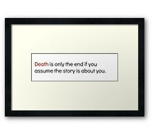 Welcome To Night Vale Death Design Framed Print