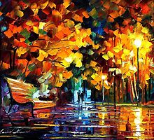 THE SOUL OF THE NIGHT - original oil painting on canvas by Leonid Afremov by Leonid  Afremov