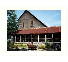 The Old Dawt Mill. Mo. Ozarks Art Print