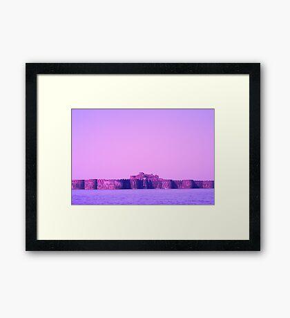 Fort Inside Sea Framed Print