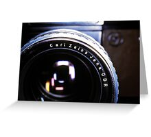 Zeiss Lens Greeting Card