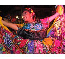 Young Mexican folklore dancer - joven bailarina Mexicana Photographic Print