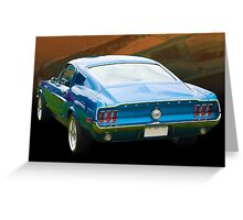 1967 Mustang Greeting Card