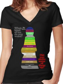 Ramona's Tea Time Women's Fitted V-Neck T-Shirt